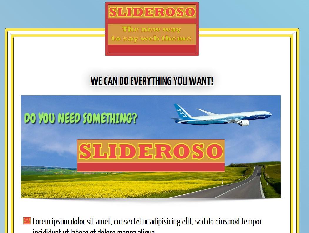 Slideroso Theme